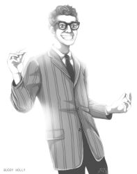 Buddy Holly by Antrague