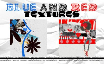 blue and red textures by tearsthaticry