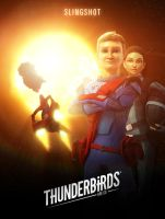 Thunderbirds Are Go Slingshot Poster by Jackardy