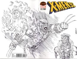 XMEN92 sketch cover WOLVERINE by drawhard