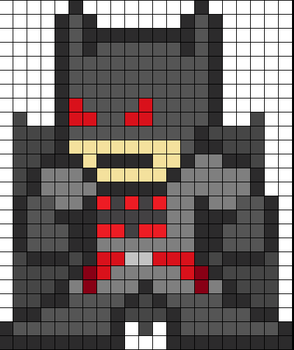 Flashpoint Batman Perler bead pattern by wasdye3000