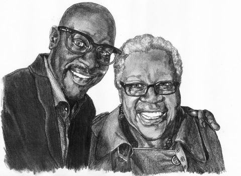 Christopher Faison and his Mother by myprettycabinet