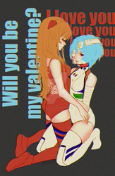 Asuka and Rei Evangelion ver 02 by k-a-t-s-u-n-e