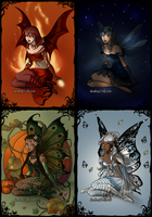 Elemental Fairies by Lunakinesis