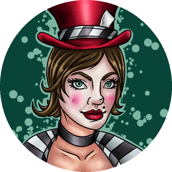 Mad Moxxi Button by Azurah