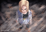 Android 18 -Manga Dragon Ball by ahmedxadel