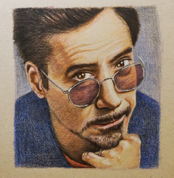 RDJ Coloured Pencils by tripperfunster