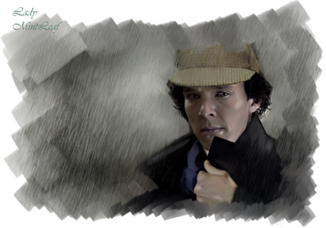 Sherlock-In the Rain by LadyMintLeaf