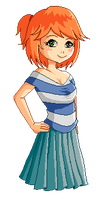 Dawn - Pixel Art by JellyChrysaora