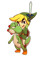 Yoshi and Link by BloodnSpice