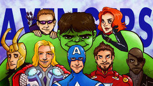 A whole mess of Avengers by KellyDawn