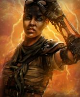 Imperator Furiosa of Mad Max: Fury Road by minielche