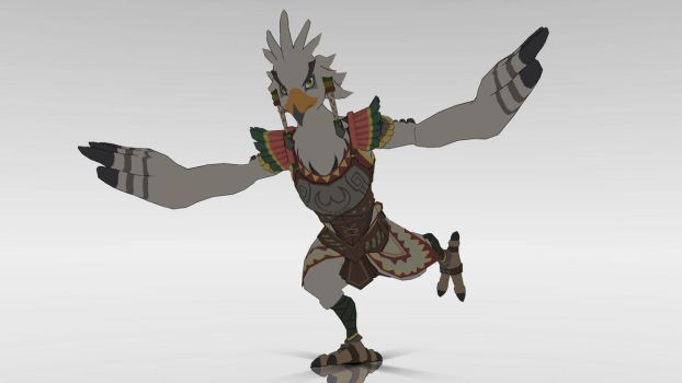 [MMD] Teba the Rito Warrior by New3DsSuchti