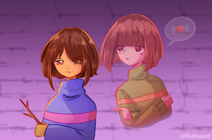 Undertale:: Frisk and Chara (Collab) by SpaceJacket