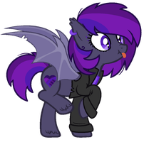 Rebellious Batpony - Offer To Adopt - SOLD by MonkFishyAdopts