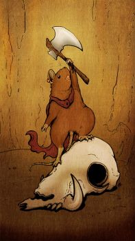 Mouse and Skull by Achaeopteryx