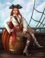 Girl pirate by Lady-Ghost