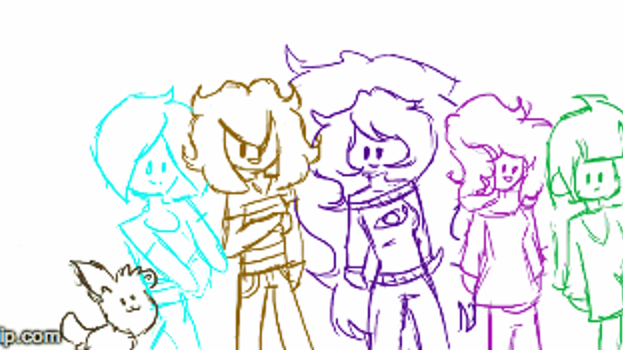 !Animation~ Evil Gamer Group 2 by lyssaG123