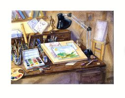 Workplace of the artist by Ametist-nyako