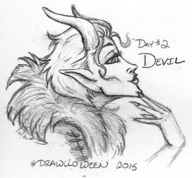 Drawloween 2015 - Devil by Kimmers4Ever