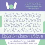dolphin ocean wave font by weknow by weknow