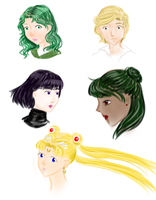 Sailor Moon Pencil Experiment by rothfyae