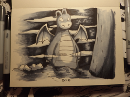 Inktober Day 10: Gigantic by Steve-the-Lucario