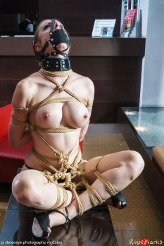 Playing in the hotel lobby - With Cobie by ropemarks
