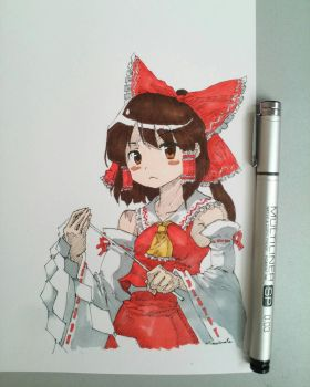 Reimu Hakurei finished. by rianwirata