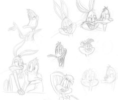 Looney tunes sketches by Riquis101