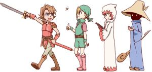Final Fantasy - The Warriors of Light by Ahrrhd