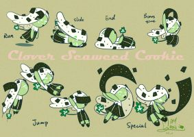 Clover Seaweed Cookie-moving by MayCyan