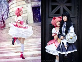 Magical Girl Madoka and Homura by RuffleButtCosplay