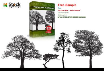 Tree Silhouette Vector Image by Stockgraphicdesigns