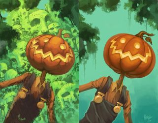 Jack Pumpkinhead comparison by Dhutchison