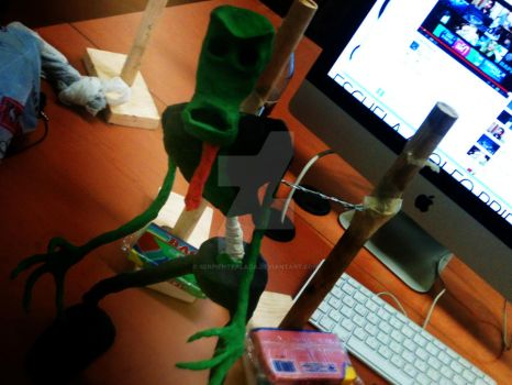 Hambre zombie for stop motion by Serpientealada