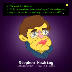 RIP Stephen Hawking by le-numeritos