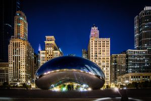 Chicago bean, night by alierturk