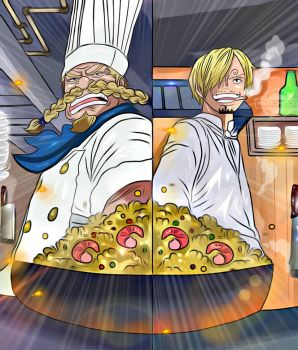 One Piece Chapter 902 Sanji Zeff Cooking Ending Co by Amanomoon