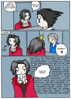 Edgeworth and his fangirl by Drawing-24-7