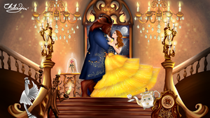 Belle And The Beast by ChibiYvi