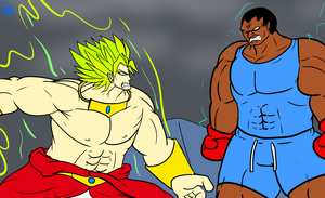 Broly vs Balrog by Carbonated-James