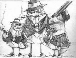 Daily Sketch - Chicken Mafia by channandeller