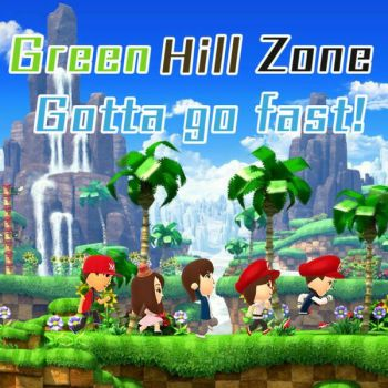 Mii Green Hill Zone by AngelofGoddessAplis