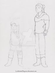 Ice Age OCs: 12 yr old Eira and 17 yr old Armon by LaArtistaHispana