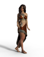 Free Stock PNG: Woman in Stylized Roman Attire by ArtReferenceSource
