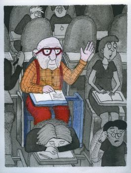 Old Guy in College by Lemur89