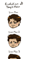 Evolution of Tony's Hair by Itabia
