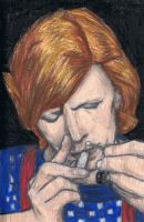 David Bowie sniffing cocaine by gagambo