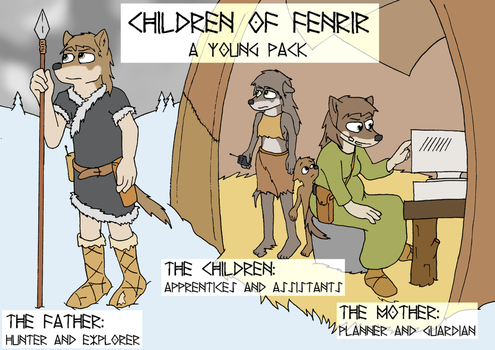 Children of Fenrir by WolfieInu